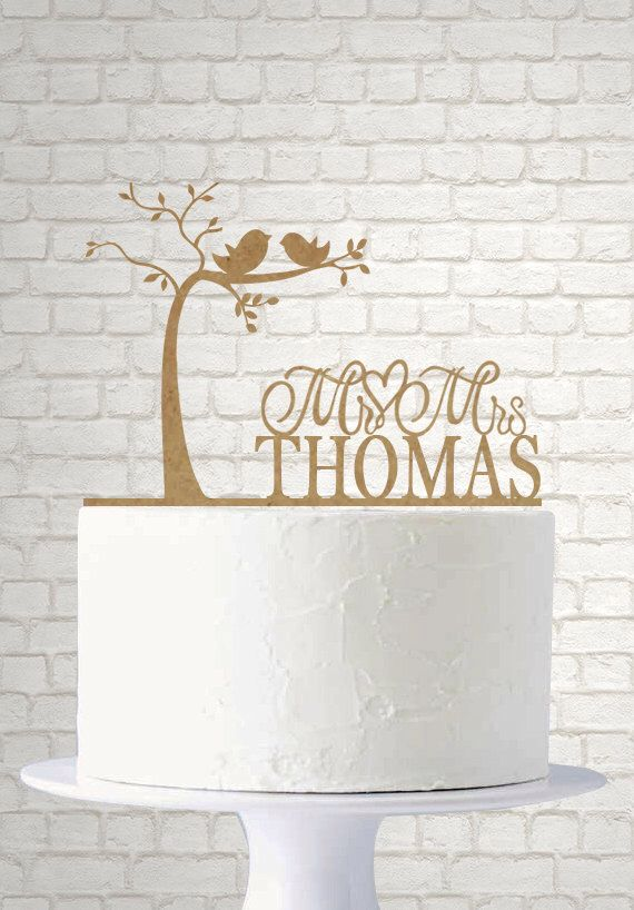 Rustic Wedding Cake Topper - Bride and Groom - Love Birds - Love Tree - Custom Cake Topper A740 by LASERDESIGNS1 on Etsy https://www.etsy.com/listing/234400665/rustic-wedding-cake-topper-bride-and