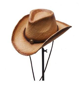 991543bf95327 Men s Glamourous Elegant Simple Raffia Straw Cowboy Hat (196169908 ...