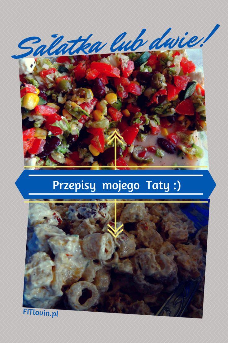 Dwie zdrowe sałatki imprezowe, przepisy: http://www.fitlovin.pl/2014/06/zdrowe-menu-imprezowe-co-przygotowac-dla-gosci.html