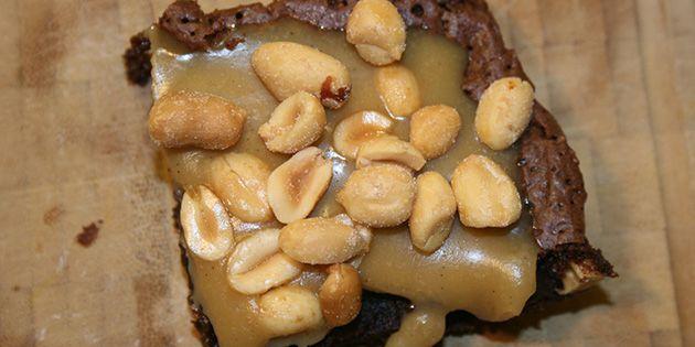 Snickerskage - virkelig lækker opskrift på snickerskage