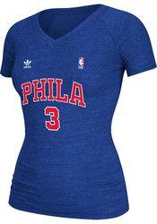 Allen Iverson Adidas Philadelphia Womens Blue Soul Swingman Tri-Blend Player Tee