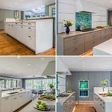 One of our most recent projects, a modern kitchen that brings the outside in. https://divinedesigncenter.com/2016/07/08/modern-kitchen-with-a-full-view-of-nature/ #miele #silestonena #leicht