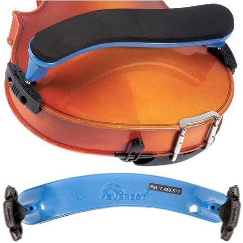 Violin Shoulder Rest Violin Everest Shoulder Rest Blue Adjustable ES Series 4/4 #Everest