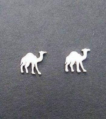 Sterling Silver Camel Earrings|Camel Earrings|Camel Jewelry|Silver Stud Earrings|Camel Swag|Animal Earrings|Animal Jewelry/Made to order by AnAmericanMetalsmith on Etsy