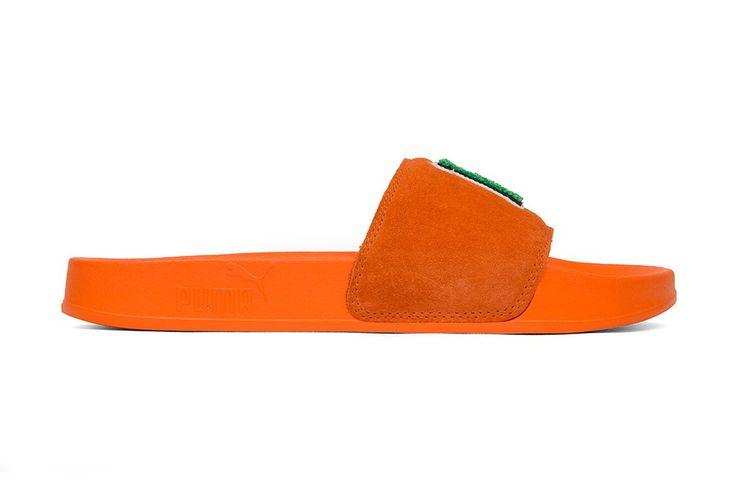 Puma x Fenty by Rihanna Unisex Leadcat Fenty FU Slides - Scarlet Ibis/Bright Green
