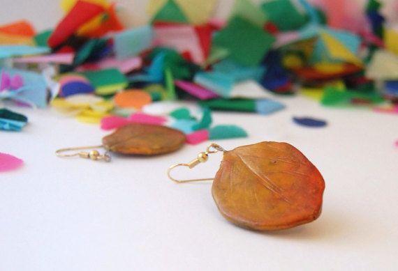 Autumn leaf earrings $15.95