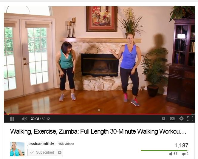 My hero!  Love that Jessica works out with her mom in some of her videos.
