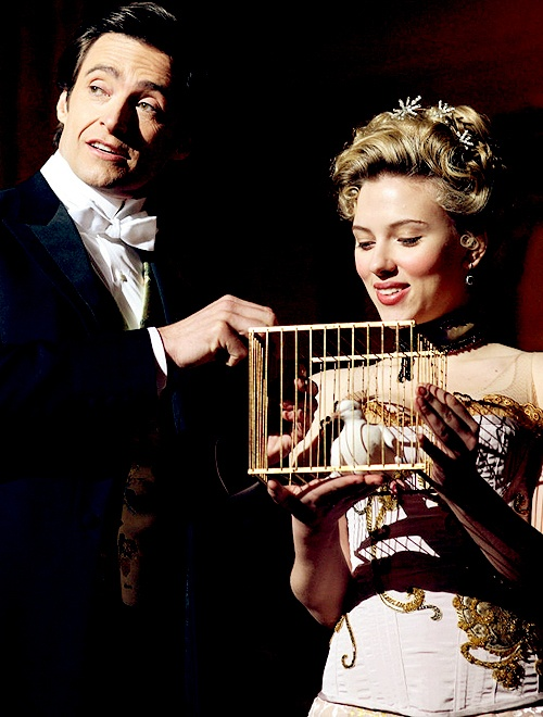 Hugh Jackman, Scarlett Johansson - The Prestige.. I've had to watch this movie twice just to comprehend the greatness.