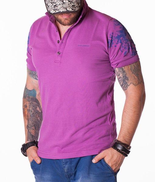 Dolce & Gabbana Tricouri Polo - D&G Floral Pattern tricou polo violet