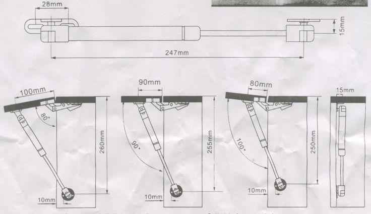 Bracetto pistone a gas per ante wasistas forza 80 N argento CIRCA 4-6 KG.: Amazon.it: Fai da te