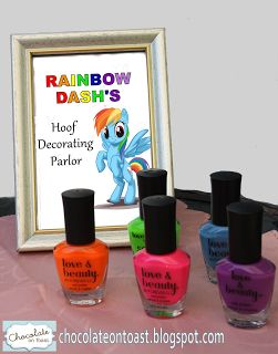 My Little Pony Party: Love these cute ideas for mlp party  By: Chocolate on Toast: