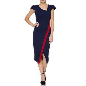 Fever London Hayden dress marinblå och röd