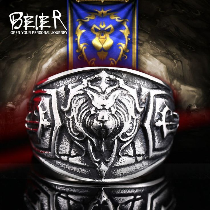Beier new store world of warcraft The Alliance lion 316L Stainless Steel high quality men ring  sc 1 st  Pinterest & Best 25+ Buy world of warcraft ideas on Pinterest | World of ... azcodes.com