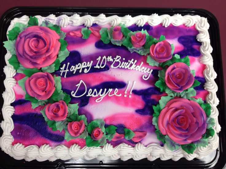 Pictures Of Pink Camo Birthday Cakes