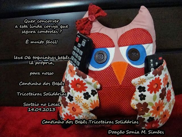 pattern for an owl remote control holder