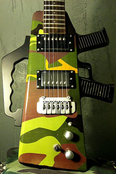 YorMajesty's De Rosa camouflage guitar