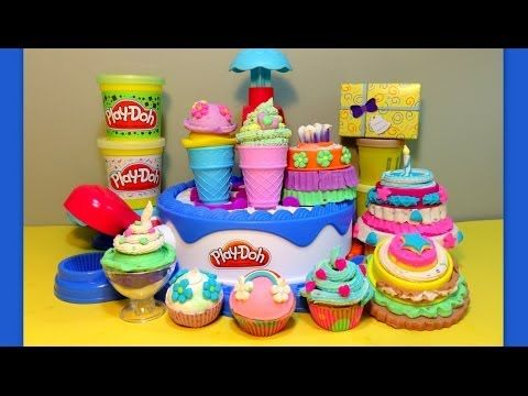 Play-Doh-HUGE ★ Cake & Ice Cream Confections Playset ★40+Accessories-Hasbro-Sweets Shoppe - YouTube