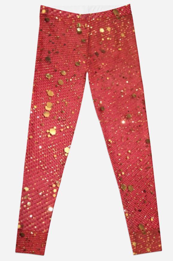 Paillettes dorées sur fond rouge • Also buy this artwork on apparel, phone cases, home decor et more.