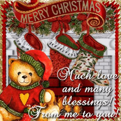 Much Love And Many Blessings. Free Merry Christmas eCards ...
