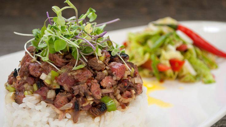 Waterfall Steak Salad by Pailin Chong Chitnant