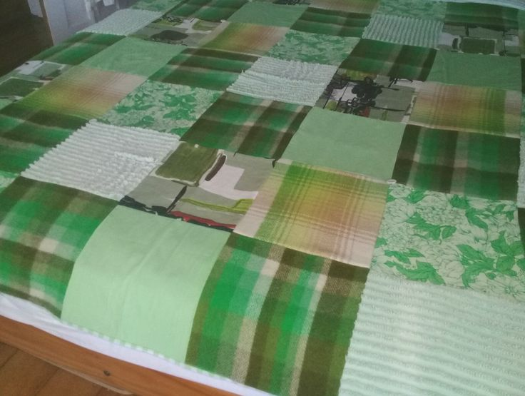 Patchwork vintage fabric throw from The Sunroom.