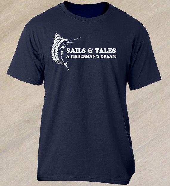 Sails & Tales Funny Fishing Shirt. Fisherman by ReelFunnyShirts
