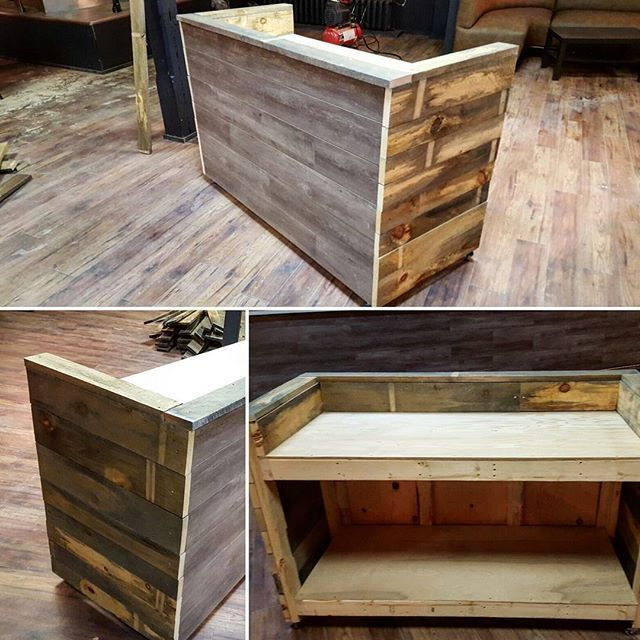 Completed DJ Booth For @livmuskoka. Rustic Vibe That