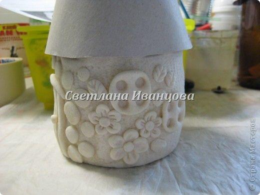 Здравствуйте все! Сегодня по Вашим просьбам делаем домик из солёного теста. Я замешивала тесто по рецепту Инны    http://stranamasterov.ru/node/87113  Спасибо, очень нравится! фото 11