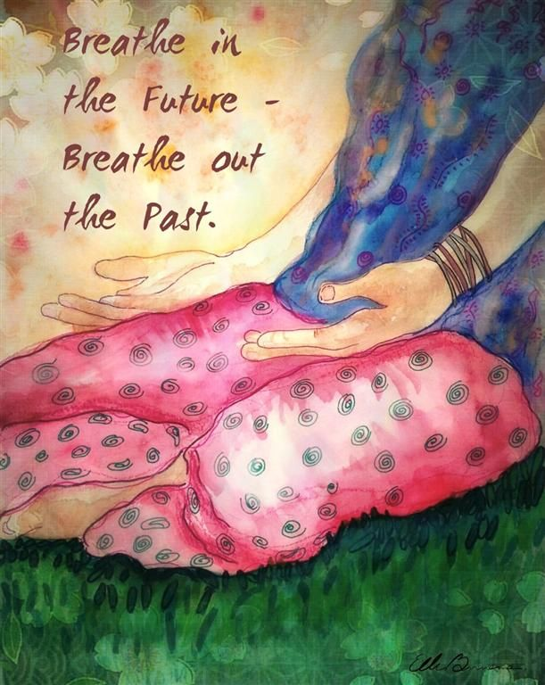 The Yoga Art of Ellen Brenneman Breathe 16x20 Canvas $119 @ www.downdogboutique.com #YogaHome #Yoga #YogaArt