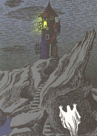 Retro Moomin Postcard - Moominhouse Ghost: