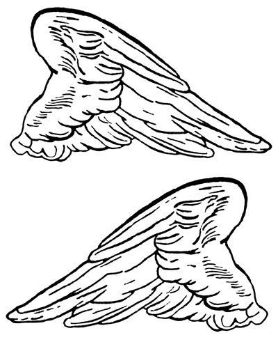 Angel Wings Pictures :: Angel Wings - Image 3  (NOT DOVER, karenwhimsy.com )