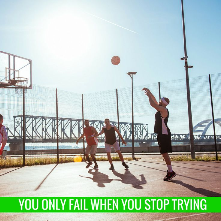 You only fail when you stop trying.   #staminade #inspiration #basketball