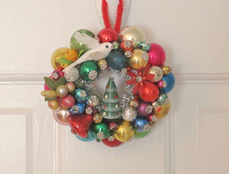 346 best Vintage Christmas Ornament Wreaths images on Pinterest