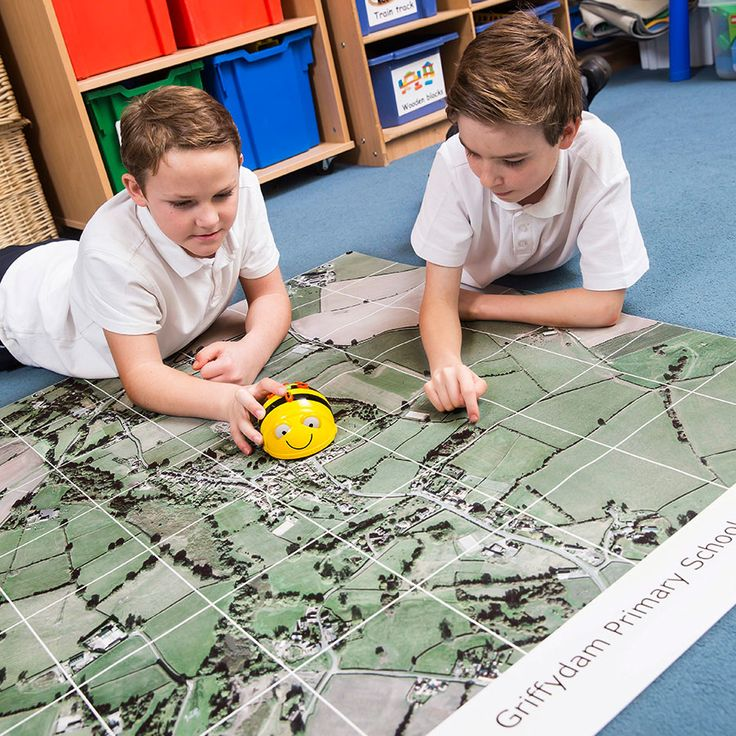 Let Bee-Bot engage your pupils' interest in aerial photography and their local area with this floormat centred on your school.