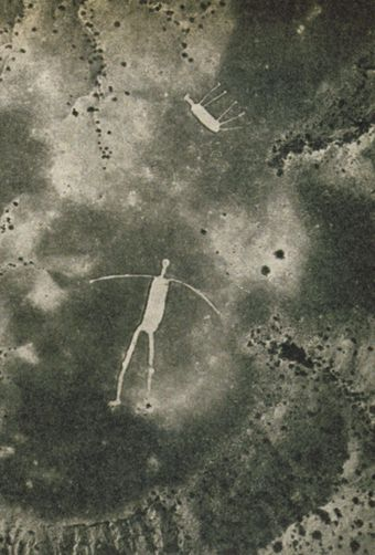 Not too far from the Colorado River, on the low desert just west of Highway 95, lies one of the most spectacular ancient creations in California––a group of immense drawings that, like Peru's famous Nazca lines, can only be seen properly from the air. They are called the Blythe Intaglios.  Unseen by whites until the 20th century, these huge figures hidden on the desert floor were rediscovered from the air. In 1930, aviator George Palmer was flying over the area when he spotted enormous…