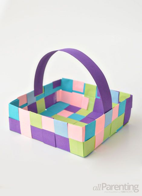 Handmade Paper Basket Dailymotion : Best ideas about may day baskets on days