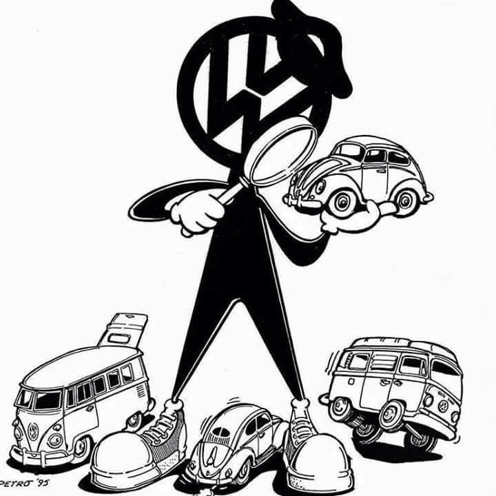 Bubblehead, het officiële VW-mannetje