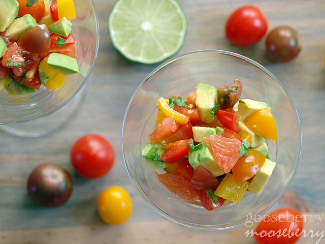 Tasty Tuesday: Grapefruit Avocado Salsa. Great refreshing appetizer when paired with the Sweet Potato baked chips. Go on, you know your taste buds are curious ;)