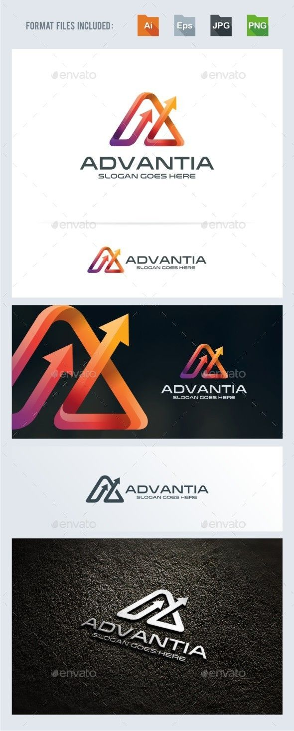 Advance A Letter Arrow Logo Template — Vector EPS #technology #progress • Available here → https://graphicriver.net/item/advance-a-letter-arrow-logo-template/13355090?ref=pxcr