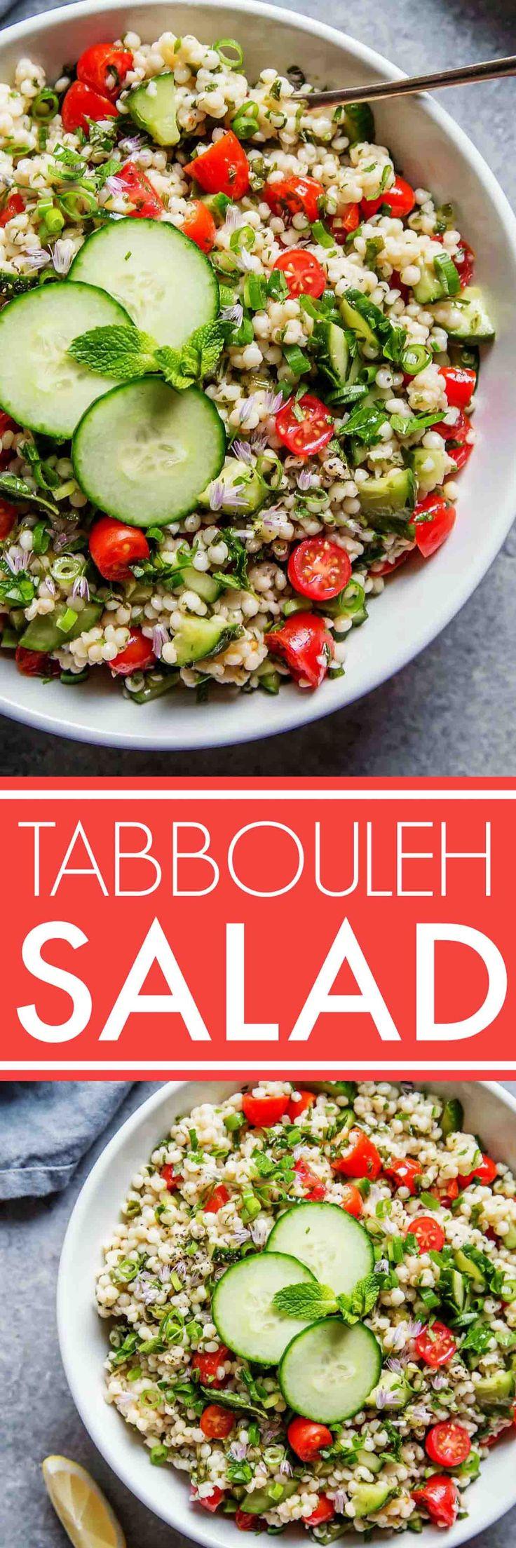 http://www.keeshndb.com/ This Israeli Couscous Tabbouleh Salad recipe combines pearl couscous with tomatoes, cucumber, fresh herbs and a light citrus dressing. It's a perfect make-ahead salad recipe! | platingsandpairin... #keeshndb @foodvinerecipes, @foodfinderdiaryhttp://www.platingsandpairings.com/israeli-couscous-tabbouleh-salad/