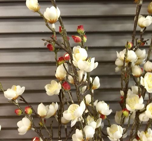Faux blossom branches -when you cant bear to pick the real thing