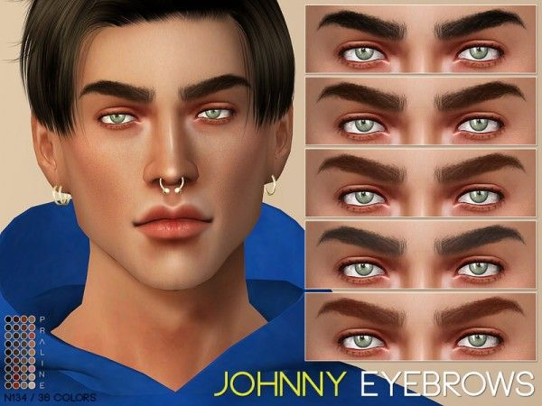 Johnny Eyebrows N135 by Praline Sims for The Sims …
