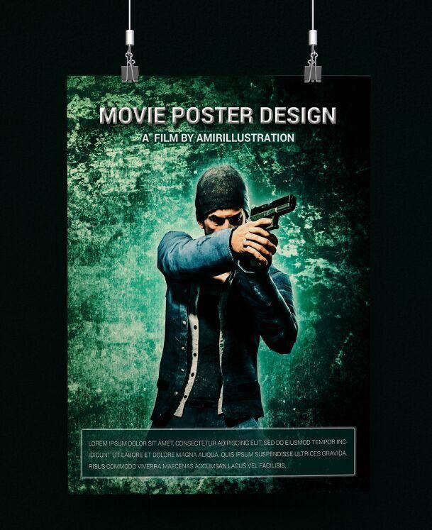 Free Movie Poster Template Psd Mockup Titanui Movie Poster Template Poster Template Poster Mockup