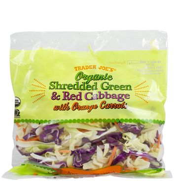 Organic Shredded Green & Red Cabbage with Orange Carrots | Trader Joe's 9oz  $1.99