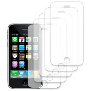 EMPIRE 5-Pack LCD Screen Protector with Lint Cleaning Cloth for Apple iPhone 3G 8GB 16GB [EMPIRE Packaging]  Price:$3.69