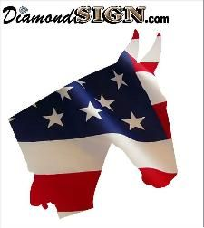 Best Patriotic Horse Decals From DiamondSigncom Images On - Decals for trucks customizedhorse decals horse stickersgraphics for horse trailers