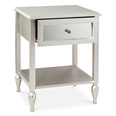 Hollywood Mirrored Side Table, Silver
