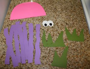 octopus counting craft materials; precut