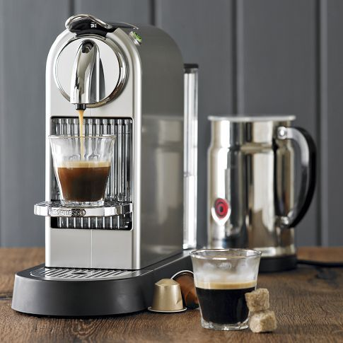 Lattes at home every morning? Yes, please.     Nespresso Citiz Espresso Maker with Aeroccino Plus Milk Frother