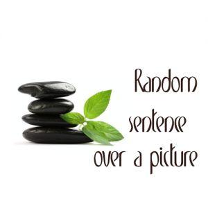 Random Sentence Over a Picture